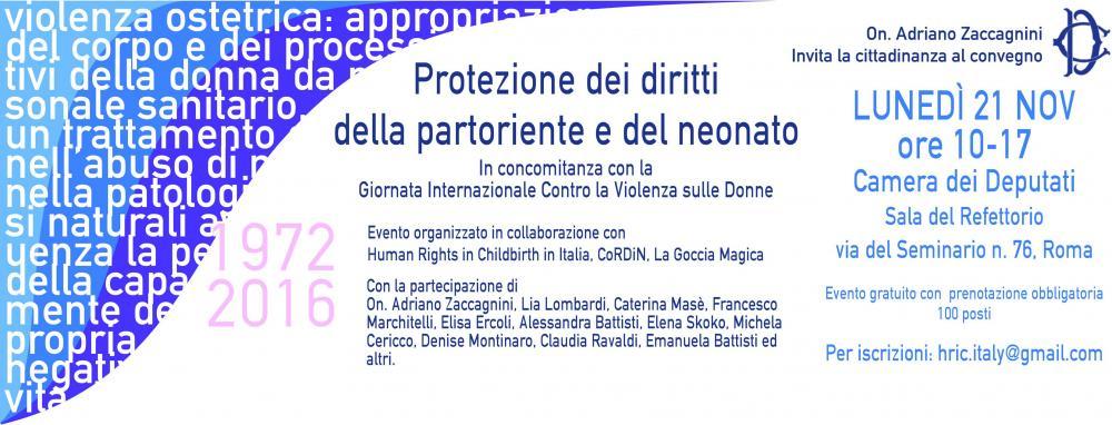 """Convegno """"Protezione dei diritti della partoriente e del neonato"""""""