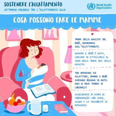 Un omaggio dal MAMI: le infografiche sull'allattamento dell'OMS, dell'UNICEF e dell'OIL in italiano!
