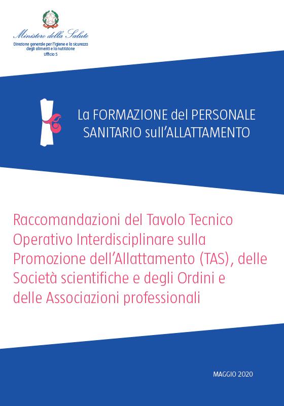 Linee guida per la formazione degli operatori sanitari – TAS