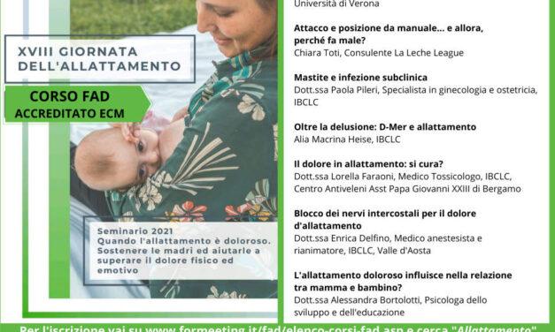 XVIII Giornata dell'allattamento – FAD