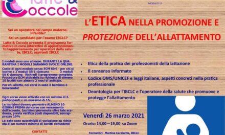 L'ETICA NELLA PROMOZIONE E PROTEZIONE DELL'ALLATTAMENTO