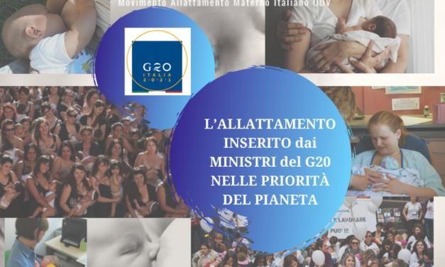 L'ALLATTAMENTO INSERITO dai MINISTRI DEL G20 NELLE PRIORITÀ DEL PIANETA