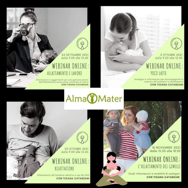 Webinar sull'Allattamento - Allattamento e Lavoro - On Line da Alma Mater