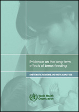 Evidence on the long-term effects of breastfeeding: systematic reviews and meta-analysis