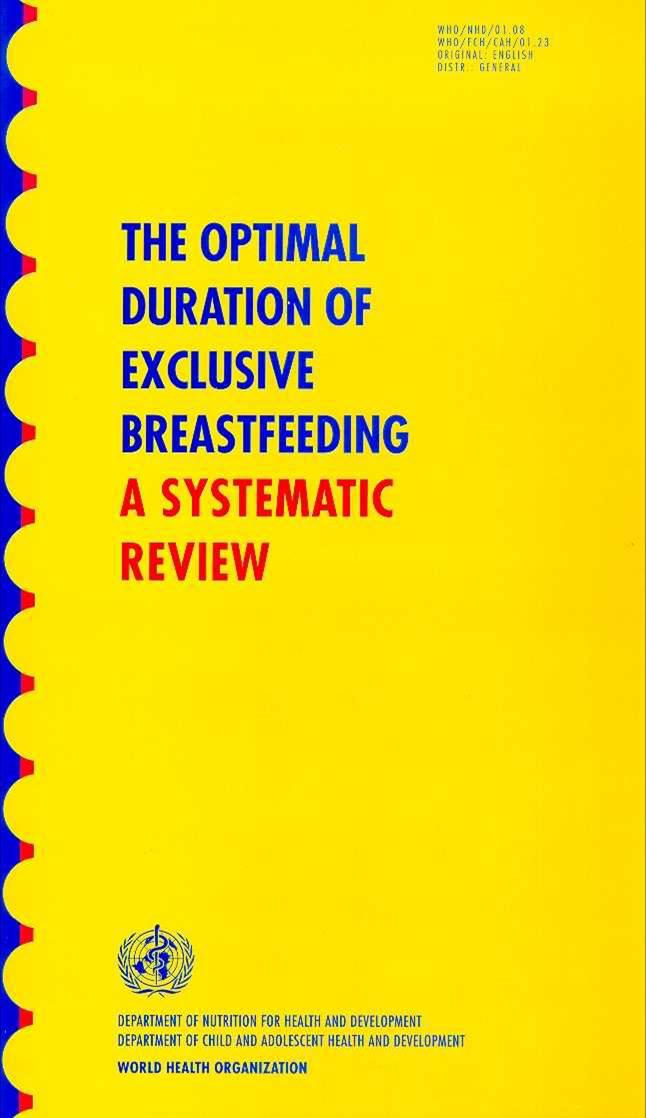 The Optimal Duration of Breastfeeding: A Systematic Review