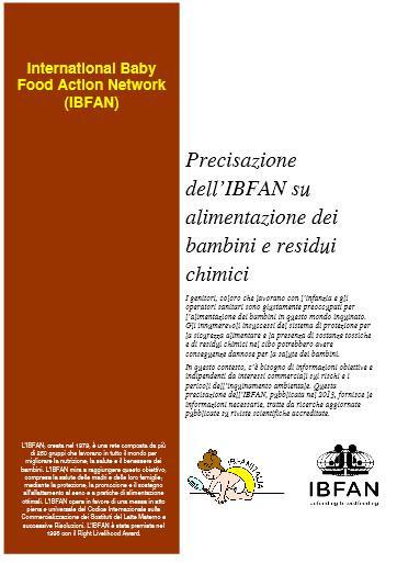 Alimentazione dei bambini e residui chimici: pubblicato in italiano il documento di IBFAN